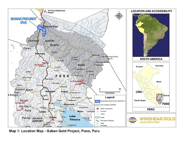 Map 1 - Location Map Gaban Gold Project