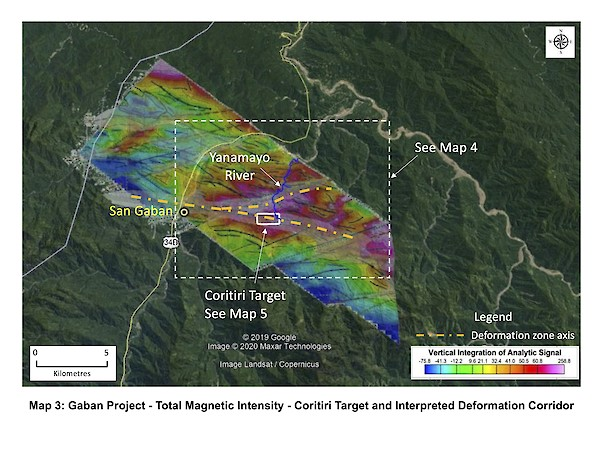 Map 3 - Total Magnetic Intensity - Gaban Gold Project